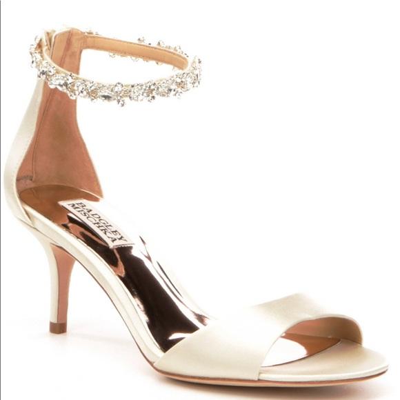 4c830d9760c Badgley Mischka Geranium Satin Ankle Strap Sandal